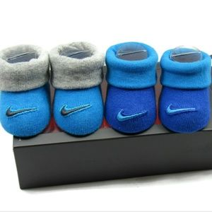 Nike Newborn Infant Booties - Size 0-6 Months